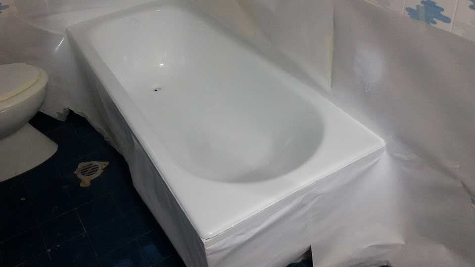 Επισμάλτωση μπανιέρας που είχε υποστεί φθορά ΜΕΤΑ
